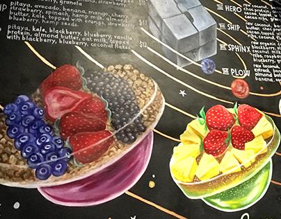 Smoothie Bowls - Mural menu