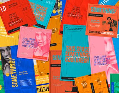Colorful Boxes Social Media Templates