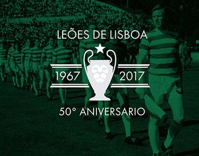 Lisbon Lions 50th Anniversary Logo Design
