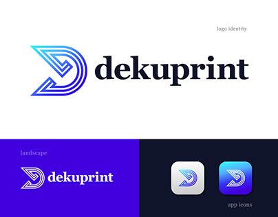D minimal letter logo design - D modern logo mark
