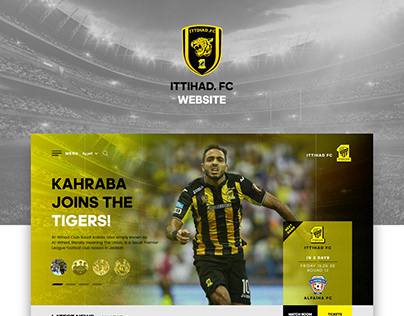 ittihad. fc website Redesign