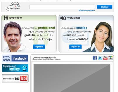 User Interface Empleo infoconstruccion.com