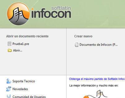 User Interface de Software Gratuito Softlatin Infocon