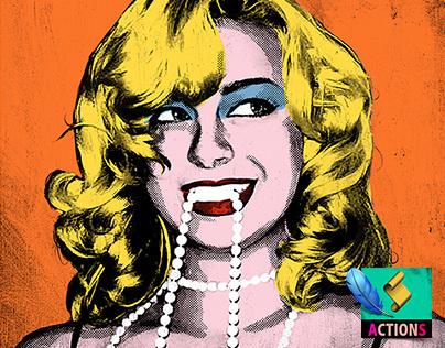 CREATE POP ART (Warhol Style) - Photoshop Action