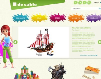 Website | Carré de sable