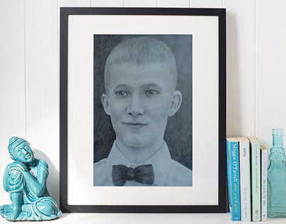 Портрет (А4, простые карандаши)
