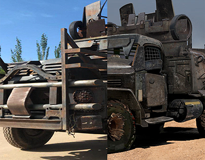 Armored mad monkey(2020) prop car modification.