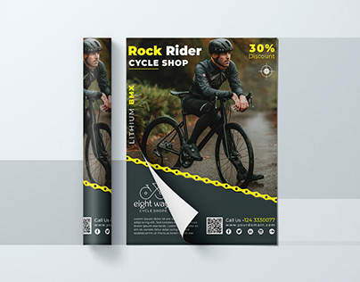 Bicycle Rider Shop | Sale and Discount Flyer PSD FIle