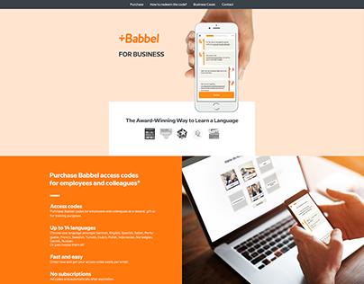 Babbel B2B Home Page