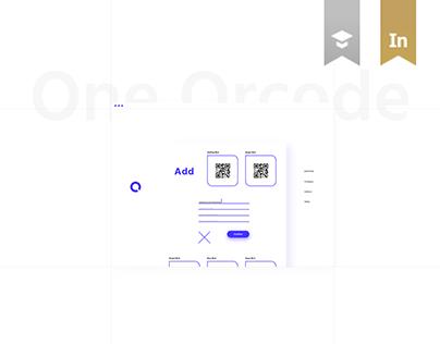 One Qrcode Website Design