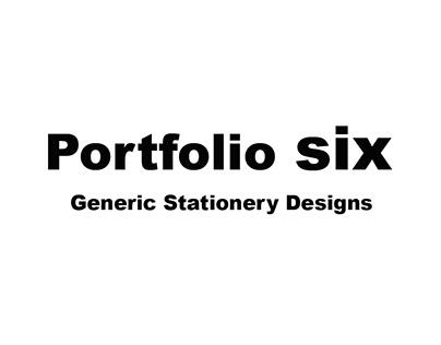 Portfolio Six - Generic Stationery Designs