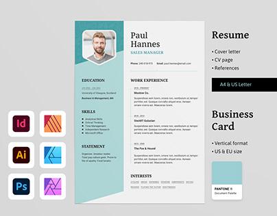 HANNES Resume CV & Business Card Templates