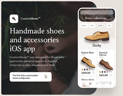 CustomShoes iOS App UX/UI