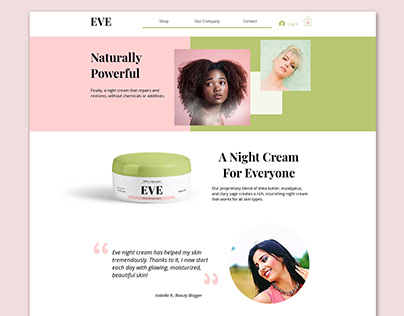 Beauty Company eCommerce Website Design- Eve Beauty