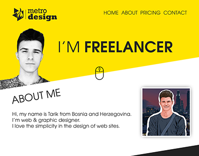 I'M FREELANCER - Personal One Page Template