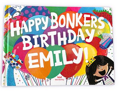 Happy Bonkers Birthday Customizable Book