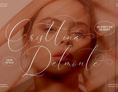 Cristtina Delmonte - Beautiful Script Font