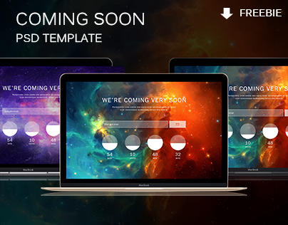 Coming soon PSD Template ( FREEBIE )
