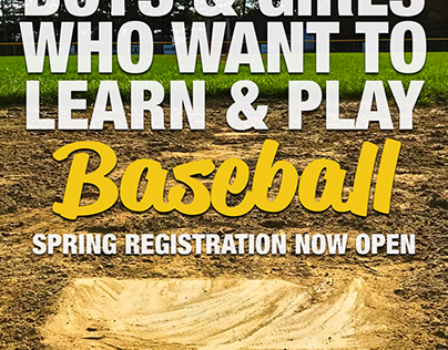 K-2 Baseball Registration Promotion
