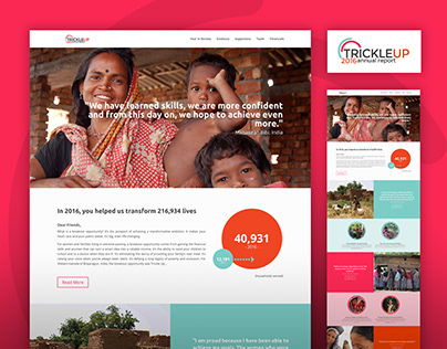 Trickle Up 2016 Annual Report Website