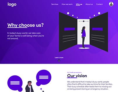 About Us Webpage UI/UX Design