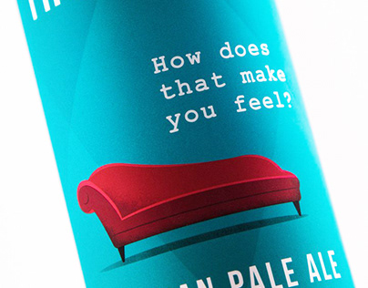 Therabeer. Valerian Pale Ale. Beer packaging