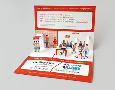 Simple vet pop-up leaflet