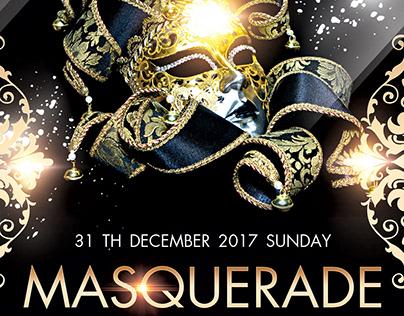 Masquerade FREE Flyer PSD Template