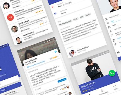Call Me App Design | Material Design