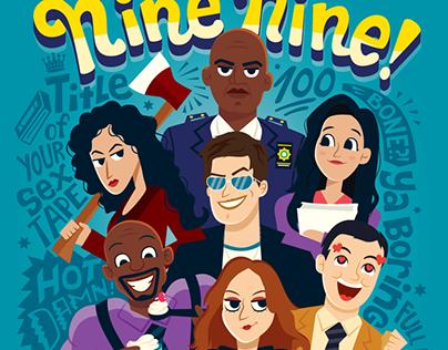 Brooklyn 99 Character Posters