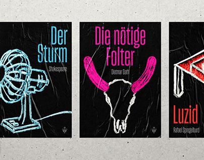 Animierte Theater Plakate