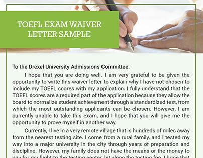 Waiver Letter Samples On Behance