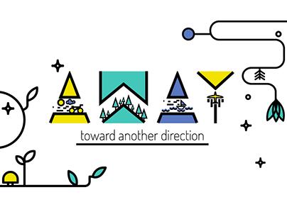 AWAY - toward another direction