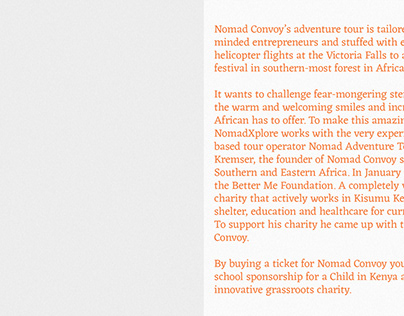 Nomad Convoy Identity and Web Design