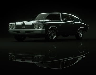 Studio Lighting Study | Chevrolet Chevelle SS 69