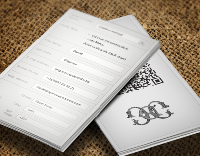 Business Card - Model Keremerkan (QR Code generator)