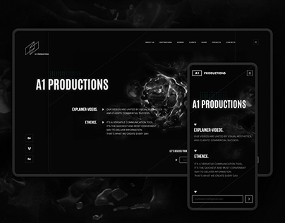 A1 Productions | Landing page | Logotype | Branding