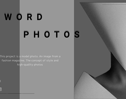 Word Photos/landing page