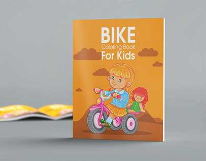 Kids Coloring Book Cover Design