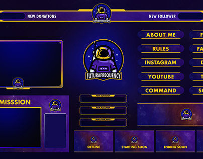 New Twitch stream overlay design