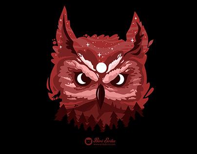 Moon Owl T-shirt design