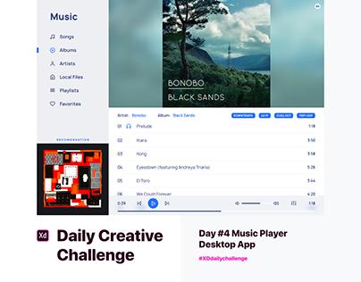 Day #4 Music Player Desktop App
