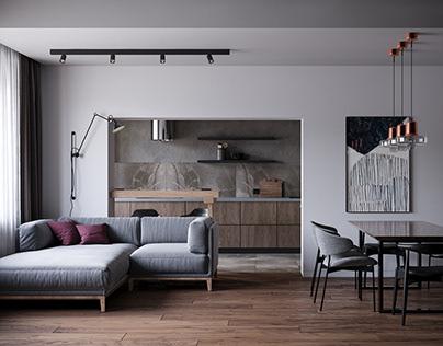 Дизайн-проект квартиры площадью 96 м²