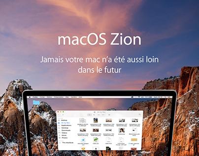 macOS Zion | UI concept 2017