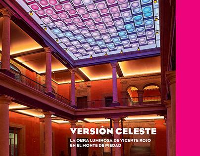 Diseño del libro: Versión Celeste Obra de Vicente Rojo