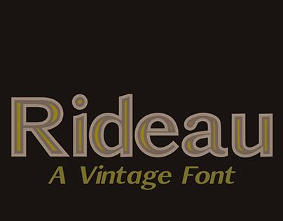 Rideau - A Vintage Font
