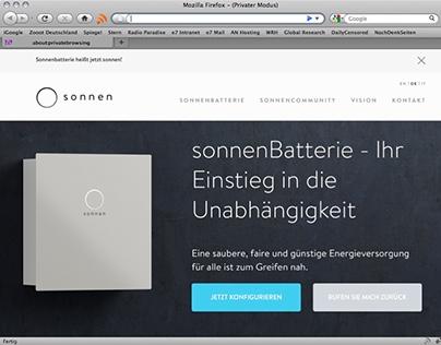 sonnenBatterie website 2015.
