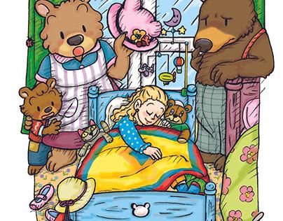3匹のくま Goldilocks and The Three Bears