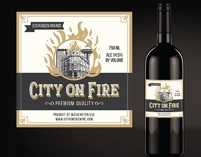 Wine bottle label design