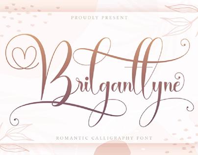 FREE | Brilganttyne Romantic Calligraphy Script